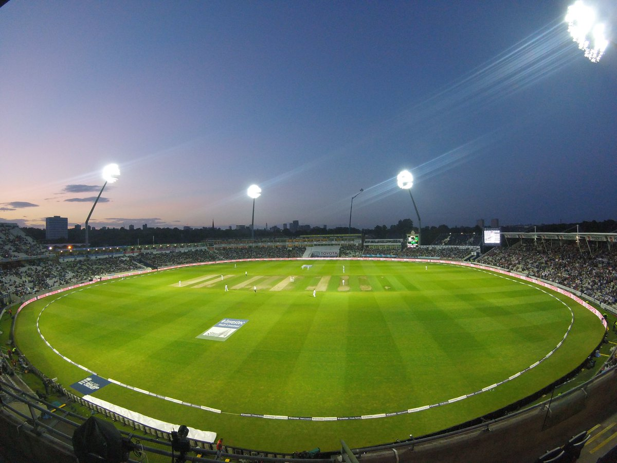 The first Day/Night Test in England looking spectacular at Edgbaston!...