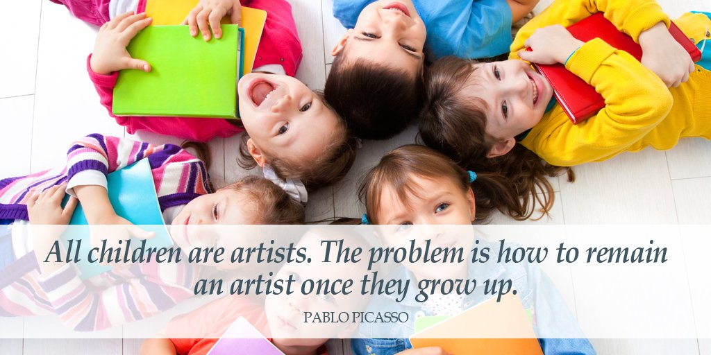 All children are artists. The problem is how to remain an artist once they grow up. - Pablo Picasso #quote <br>http://pic.twitter.com/sjFg5P3INb
