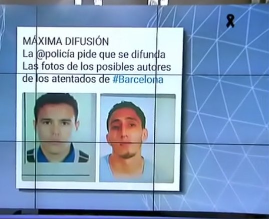 Photo: 2 men who are suspects in the attack in Barcelona today
