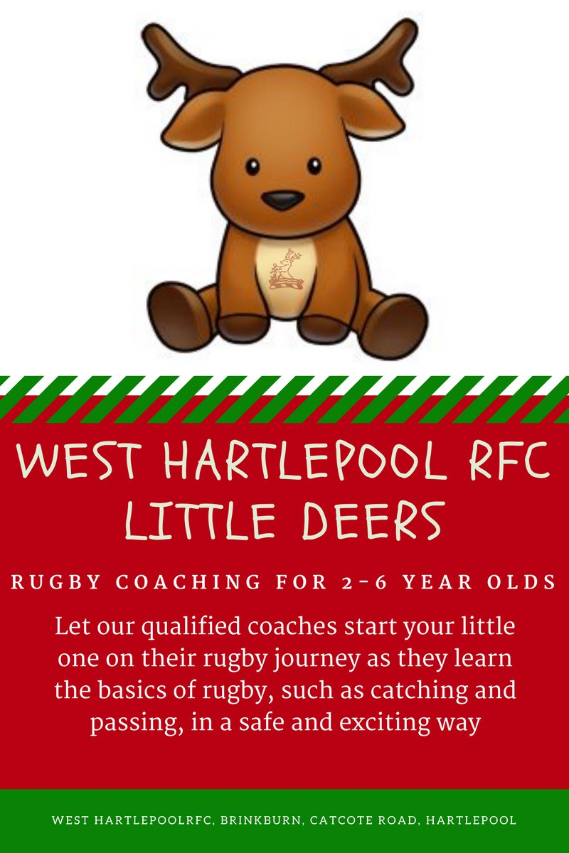 @HartlepoolMj are launching a new team this year -Little Deers is for children aged 2-6 yrs old.  https://www. facebook.com/westhartlepool rfc/posts/1656559404376483 &nbsp; …  #rugbyfamily <br>http://pic.twitter.com/fUeyLdLAli