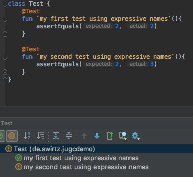 I didn&#39;t know this was possible! Great for tests :-) &lt;3   #kotlin #androiddev #junit #java #google #spring @sdeleuze @kotlin<br>http://pic.twitter.com/OEh1MkMds0