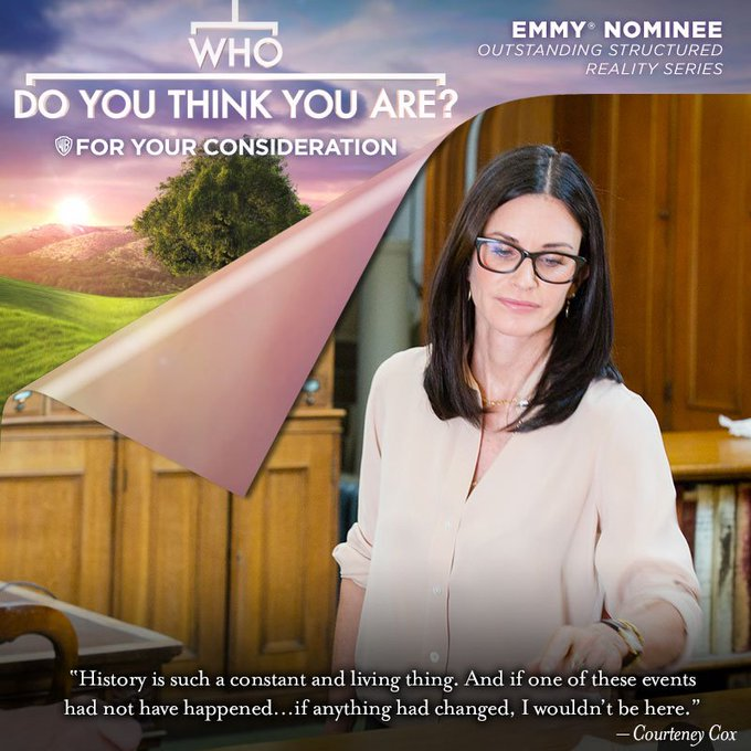 Thank YOU @CourteneyCox being being in 1 of our most powerful @wdytya eps from our recent #EMMY nominated #WhoDoYouThinkYouAre season! #FYC https://t.co/XtKRuJ5TpI