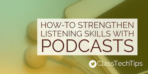 How-To Strengthen Student Listening Skills with Podcasts #edtech  http:// classtechtips.com/2016/11/26/str engthen-student-listening-skills-with-podcasts/ &nbsp; … <br>http://pic.twitter.com/5v0pIk8401