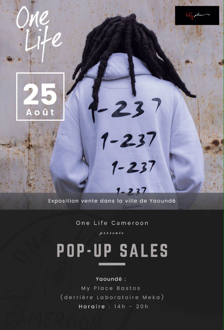 {#Events } #PopUpSales of @OneLife_Camer 25th #YDE / #DLA 27th at @Edition_Limitd #PromoSpace  <br>http://pic.twitter.com/24TzM7Gl0A