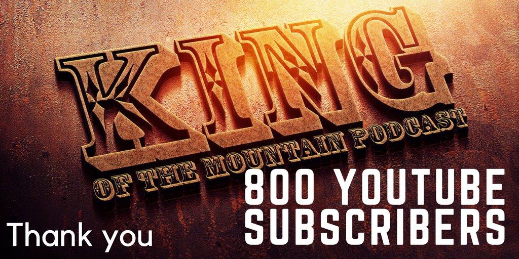 800 KOTM YouTube Subscribers! Im on the road to 1,000! The Goal is September 1st!   http:// youtube.com/kotmpodcast  &nbsp;   #ImpactOnPop <br>http://pic.twitter.com/CvXTzwgFve