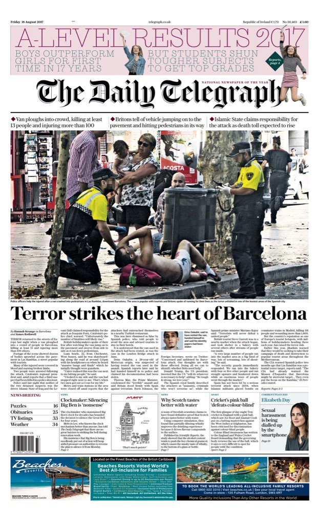 Friday's Daily TELEGRAPH: