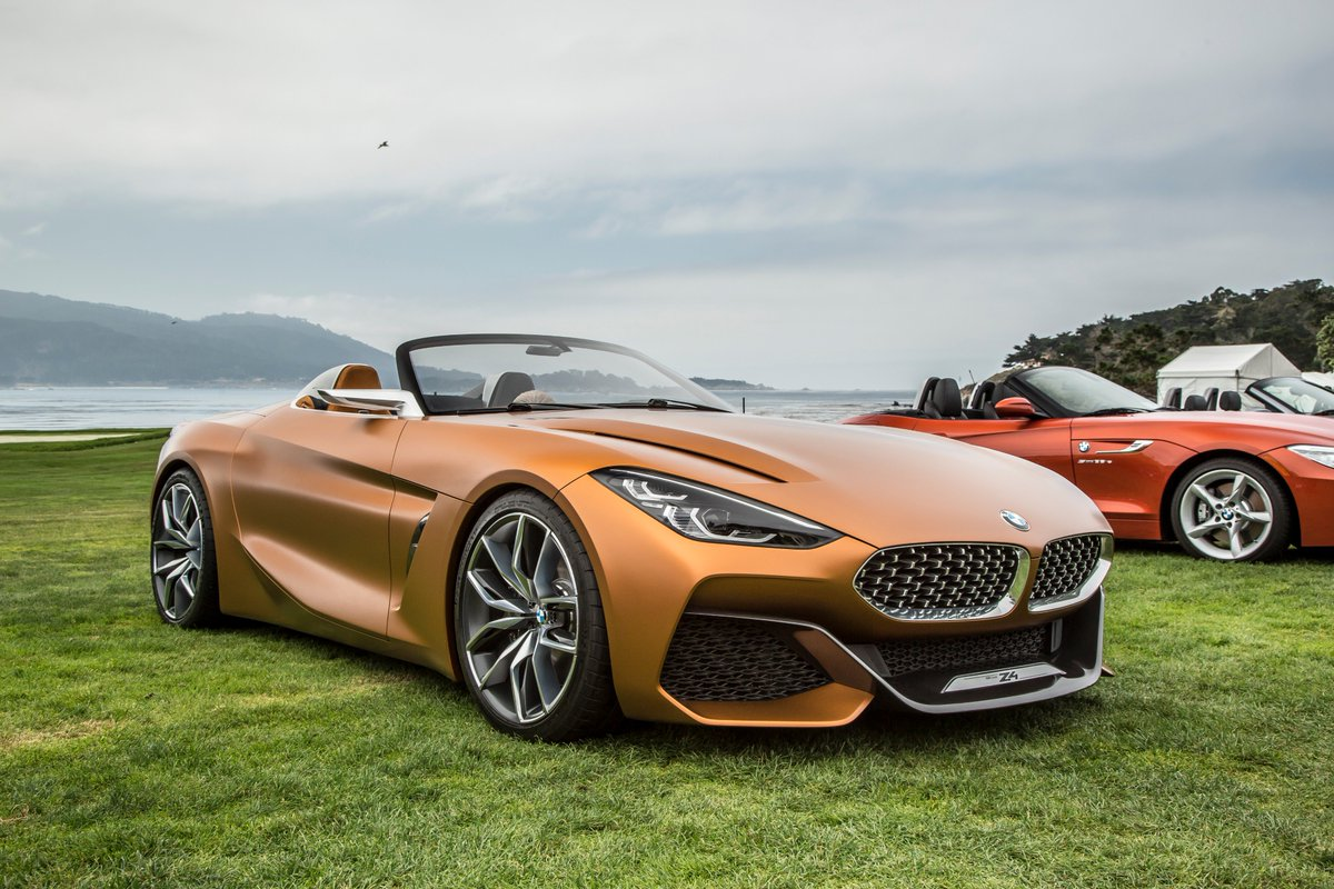 motor trend on twitter the bmw concept z4 bows at monterey car week giving us our first look. Black Bedroom Furniture Sets. Home Design Ideas