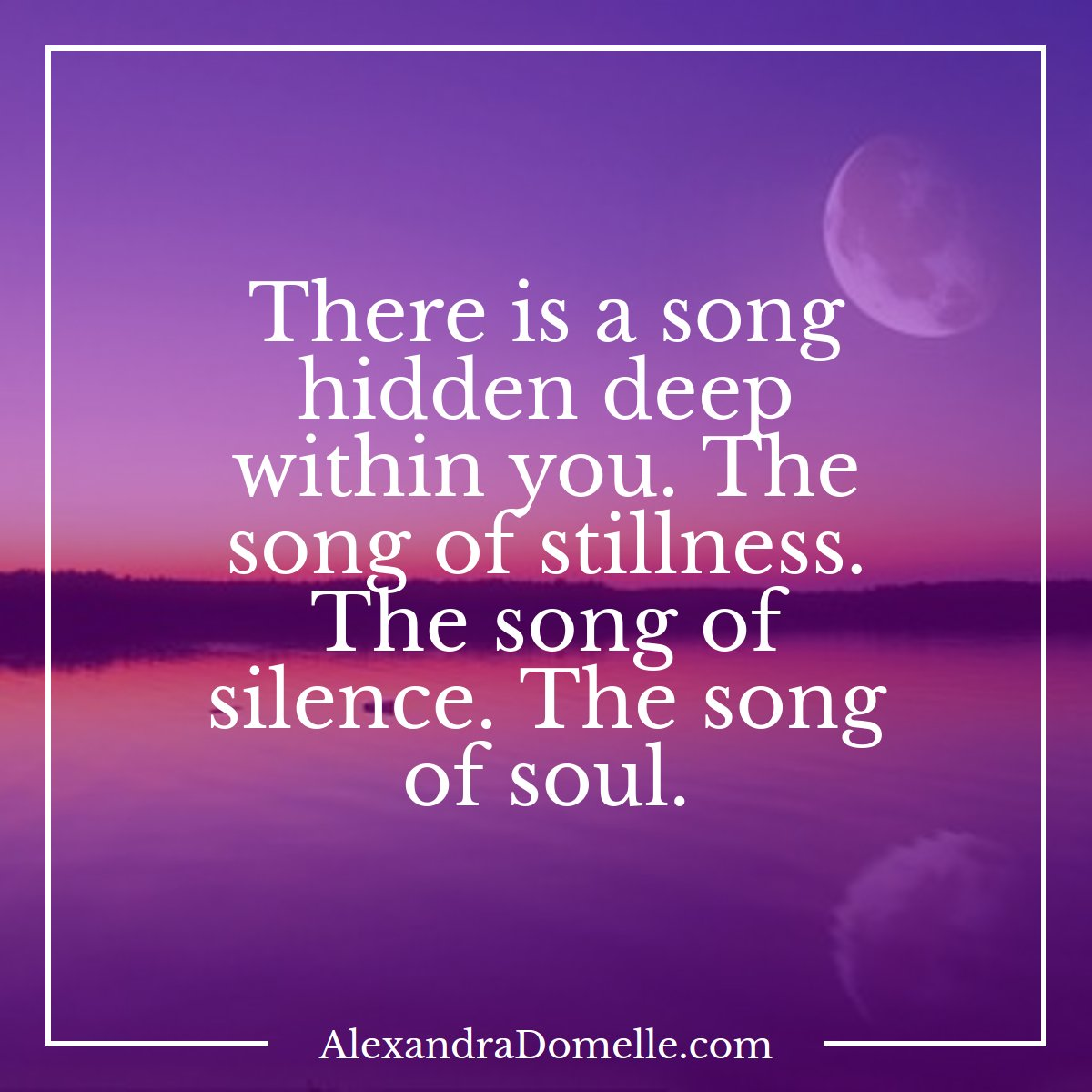Beautiful, Justin.  There is a song hidden deep within you. The song of #stillness, of #silence, of #soul. - Alexandra Domelle<br>http://pic.twitter.com/QAkbF1Wnw6