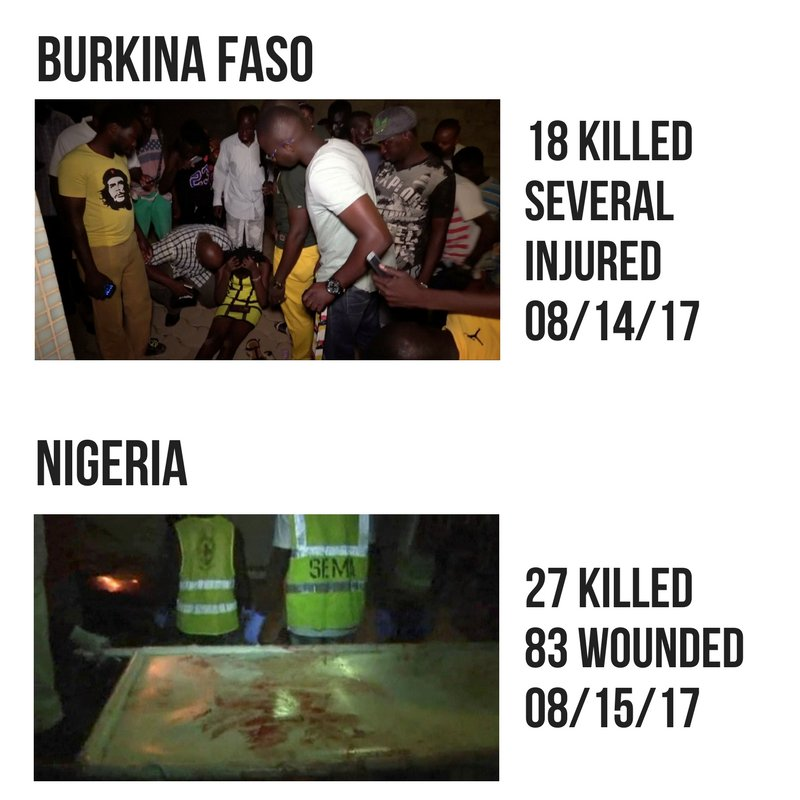 A reminder that Burkina Faso and Nigeria suffered attacks this week. #Barcelona
