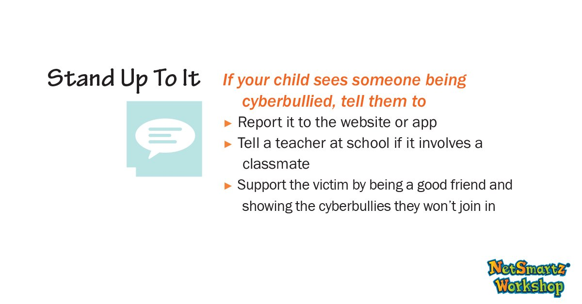 #ThursdayThoughts Even if your child isn't being cyberbullied, remind them that it is everyone's job to stand up to #cyberbullying. <br>http://pic.twitter.com/l0nzvgPK6C