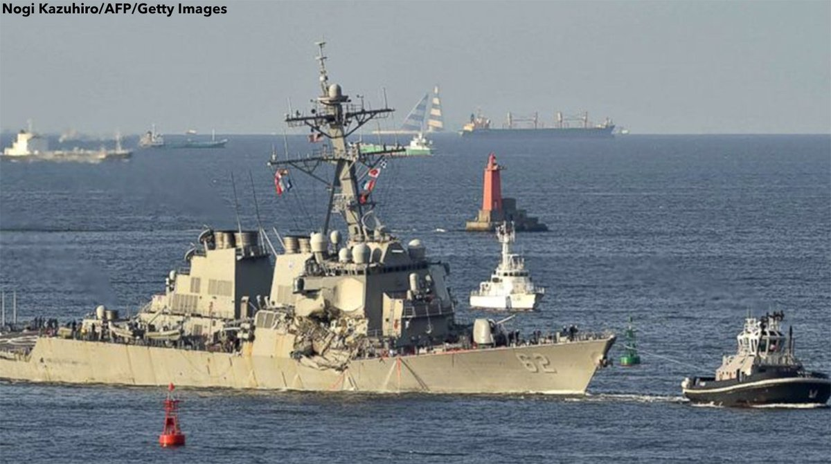 JUST IN: U.S. Navy to relieve USS Fitzgerald leadership for mistakes that led to deadly crash with merchant ship. https://t.co/q7VL5C21uM