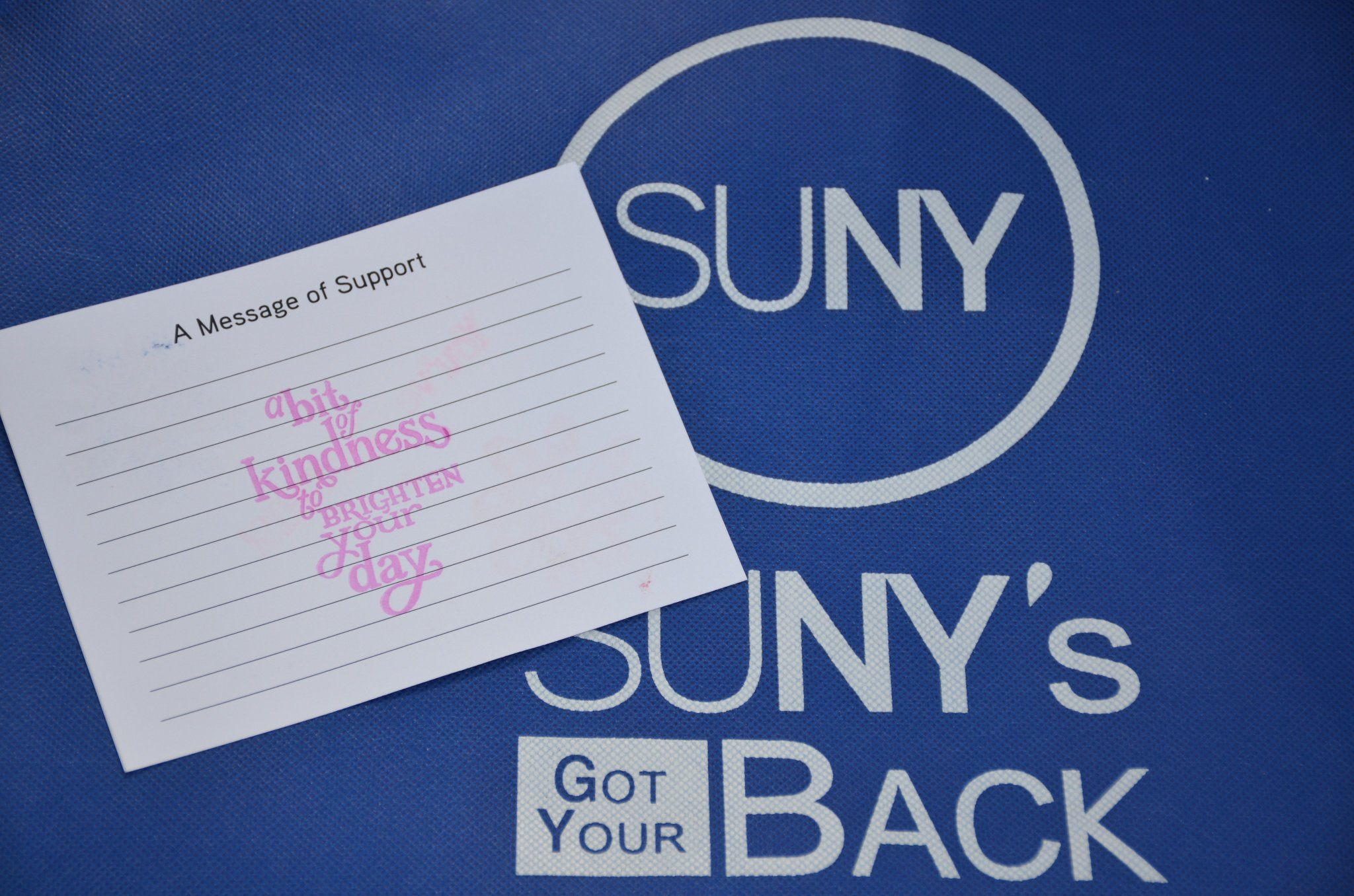 A great day as our partners & us filled 5,000 comfort bags for sexual & domestic violence shelters in the southern tier. #SUNYsGotYourBack https://t.co/9W6dcdKUP1
