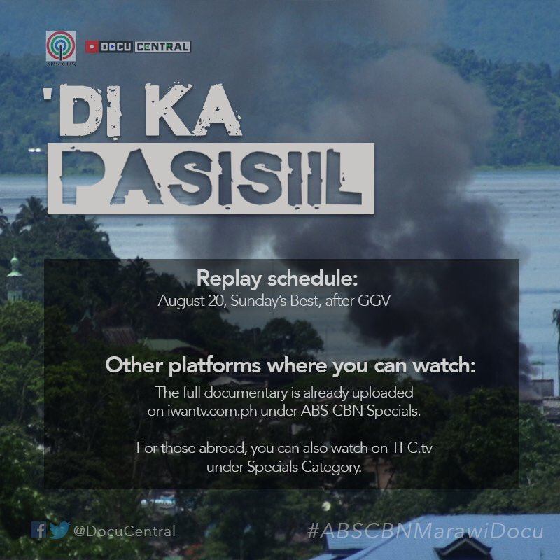 Isang hirit pa. #DiKaPasisiil will have its encore presentation on Aug...