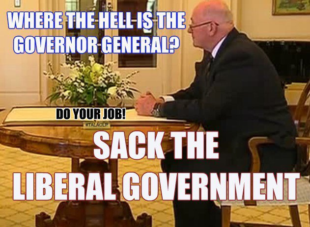Time for Australia's Governor General to...