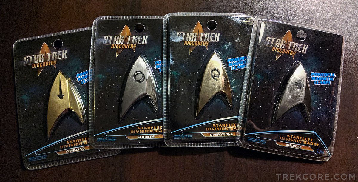 ICYMI: @QMxInsider's #StarTrekDiscovery insignia badges now available...