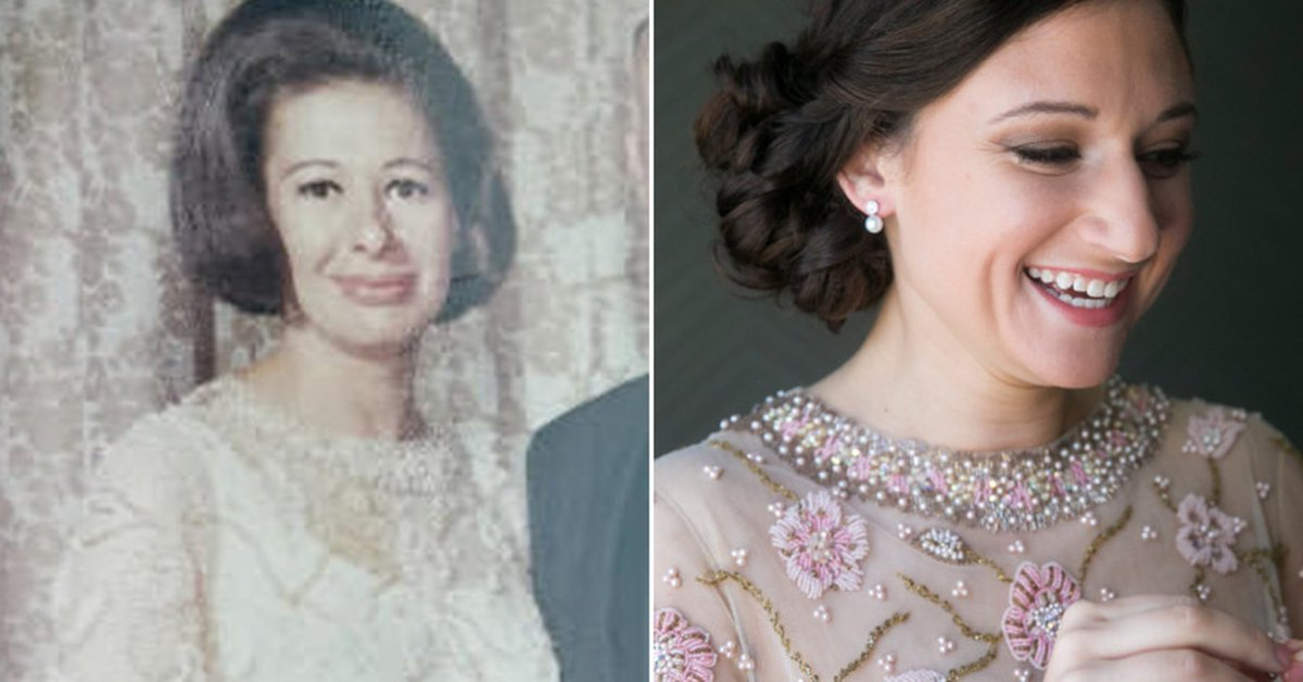 Bride wears late grandma's dress to her wedding, and it fits to a T ht...