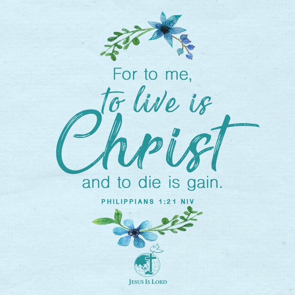 VERSE OF THE DAY -Philippians 1:21 NIV #votd #verseoftheday #JIL #Jesus #JesusIsLord #JILWorldwide  http://www. jilworldwide.org  &nbsp;  <br>http://pic.twitter.com/lZT6bkpfEI