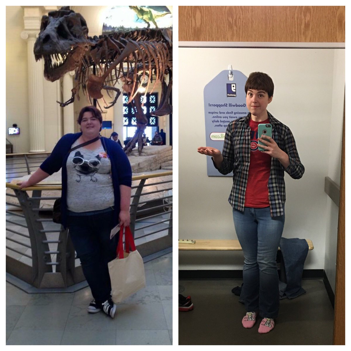 I&#39;m 1/4th of past Sam! 2yrs in the #wellness journey (Size 32 to 8). BONUS: my jeans were 44¢. #goals #fitness #exercise #happy #goodwill<br>http://pic.twitter.com/wiuhmoSC3j