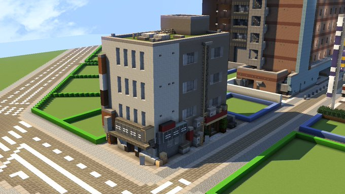 Minecraft 雑居ビル