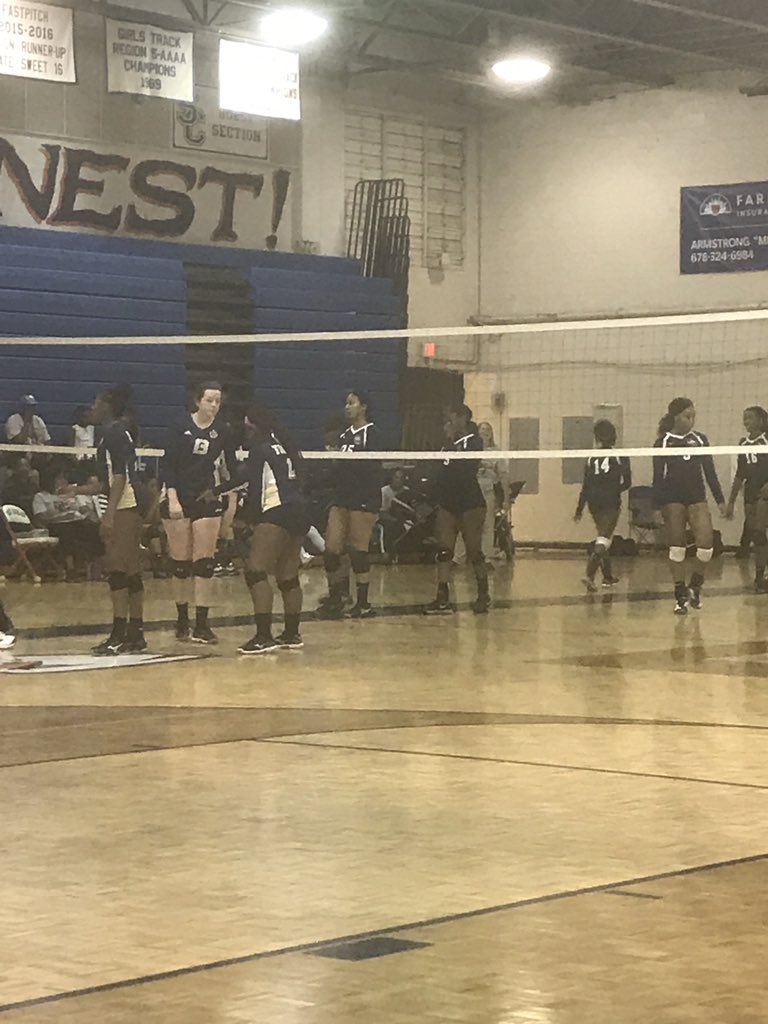 Lady Eagles take Douglas High School! Final 25:16! Way to go ladies! #proudAP #eagles #pride <br>http://pic.twitter.com/ErpaSrdU9d