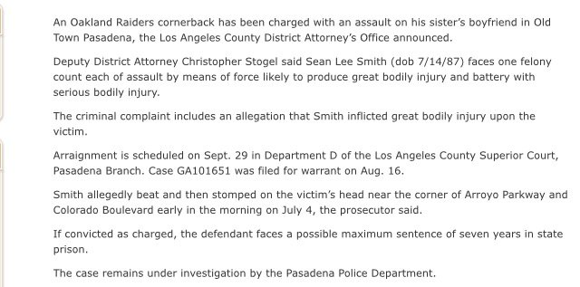From LA County DA's office re Sean Smith #Raiders https://t.co/9efRPFJ...