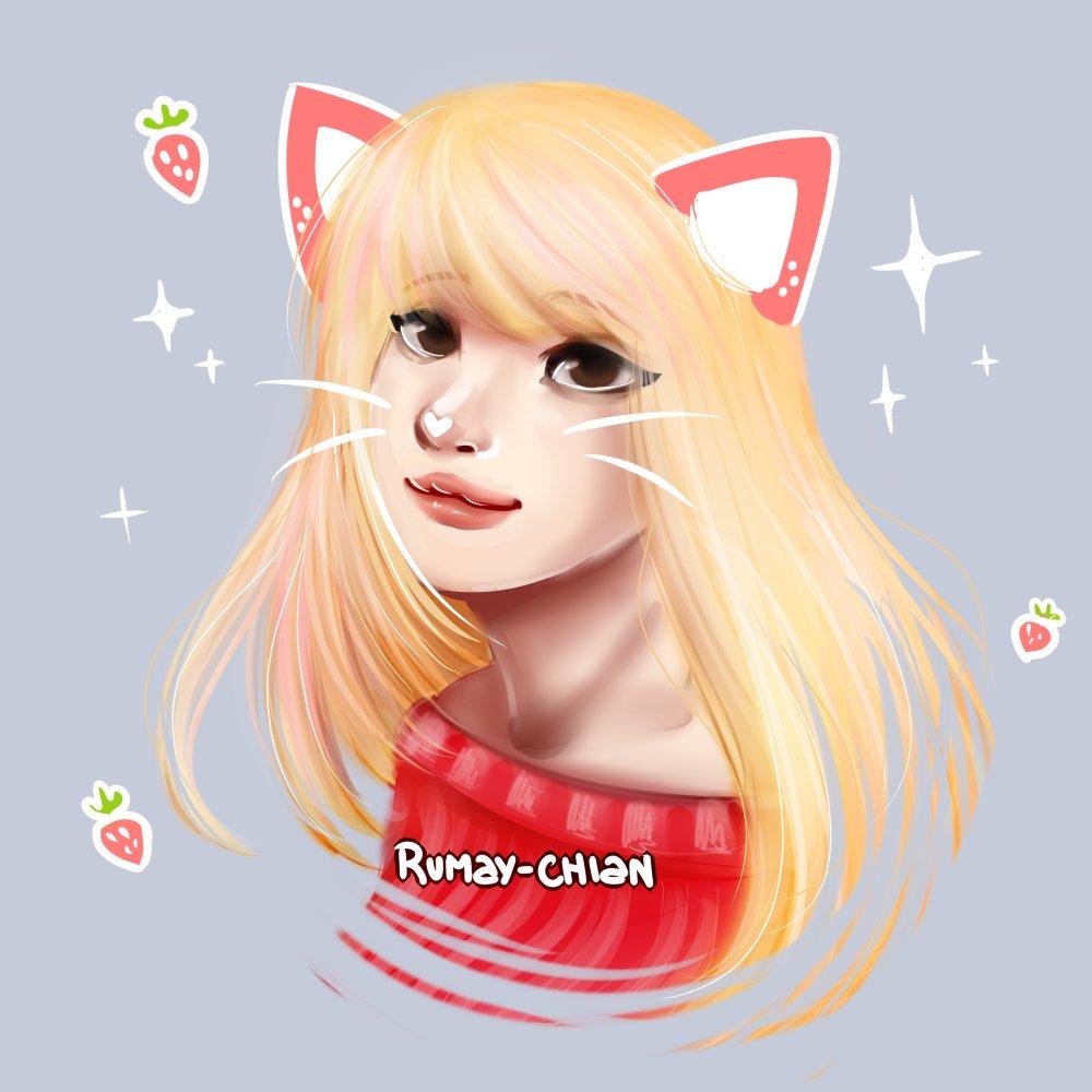 Pink kitty #myart #portrait #neko<br>http://pic.twitter.com/hXS3oqCWuR