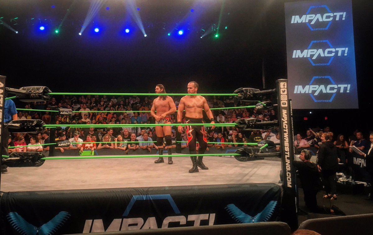 You never know where we will POP up! Thankful for another fun night of opportunities! #Heatseekers  #SaveTagTeamWrestling  #GFW #Impact<br>http://pic.twitter.com/l0PkU8PRBc