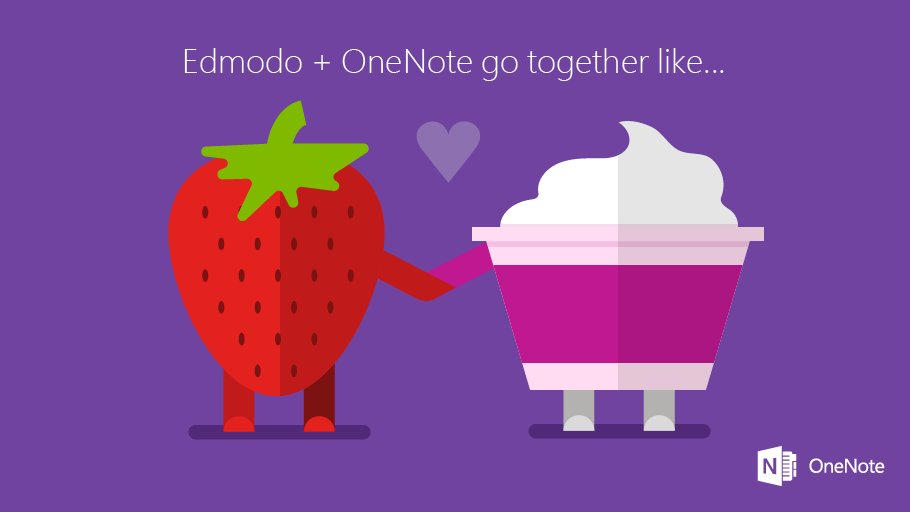 See how to set-up a #OneNote Class Notebook while integrating w/ @edmodo. #edtech  http:// msft.social/hj3UJP  &nbsp;  <br>http://pic.twitter.com/34RMgymAwm