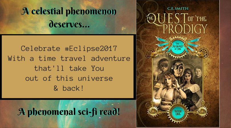Celebrate the #celestial phenomenon with a phenomenal #sci-fi read! #Eclipse2017  #weekendreads #yareads #timetravel  http:// bit.ly/cesmithqop  &nbsp;  <br>http://pic.twitter.com/DlVHy2O6TQ