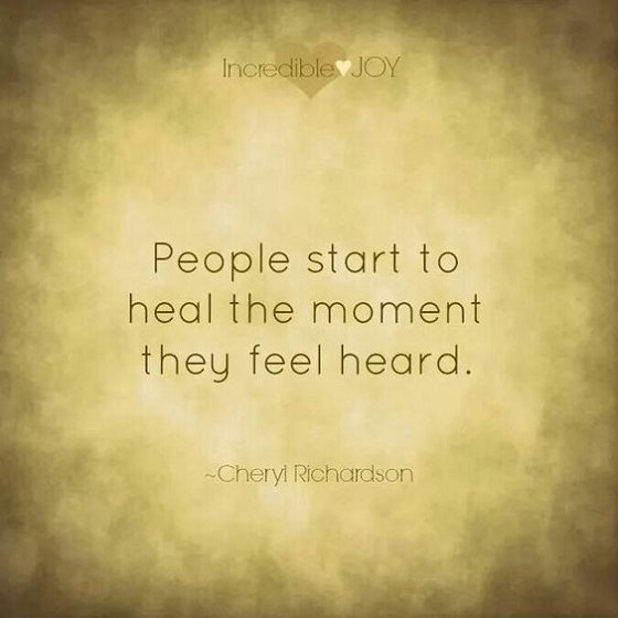 People start to heal the moment they feel heard. #recovery #healing<br>http://pic.twitter.com/4rDSp7LkBd