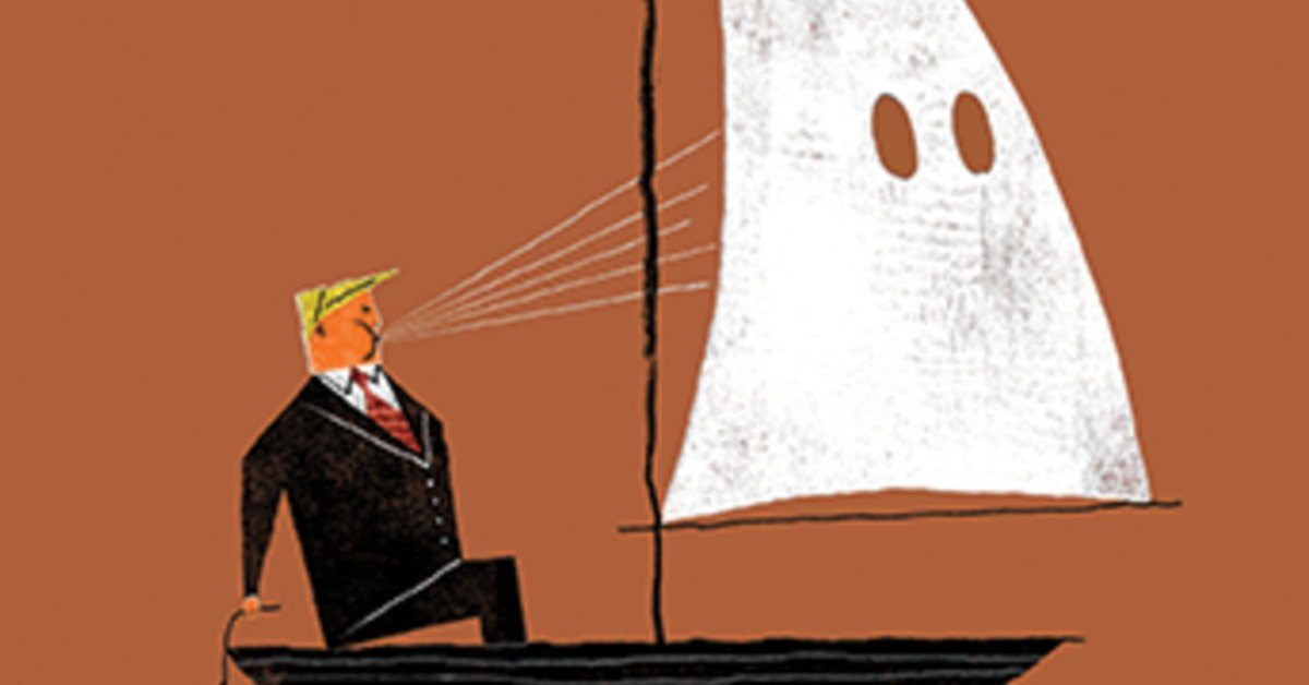 New Yorker is second magazine to couple Trump with KKK hood https://t....