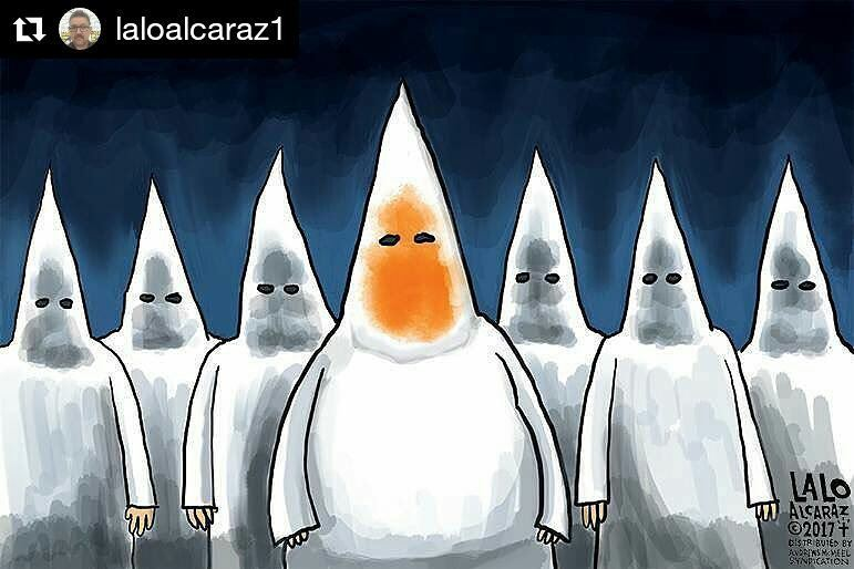 #Repost @laloalcaraz1 (@get_repost) ・・・ Please share today&#39;s  #LaloAlcaraz editorial cartoon. #Charlottesville #Du…  http:// ift.tt/2vI4guY  &nbsp;  <br>http://pic.twitter.com/1OX544kTRw