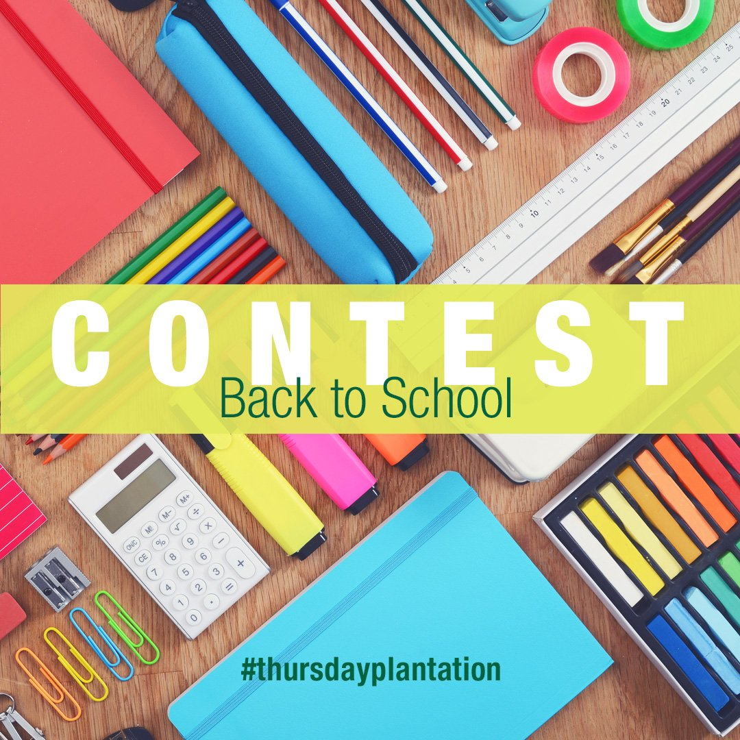 It&#39;s contest time! #Win a Thursday Plantation #Back2School Survival Kit! Just #follow and #RT to enter the giveaway! #twitterwin #freebie<br>http://pic.twitter.com/dcgskRQ9NZ