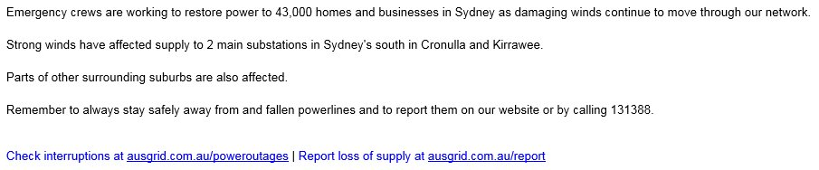 WILD WEATHER: @Ausgrid is working to res...