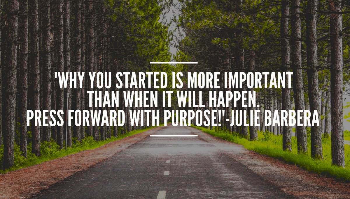 &#39;Why you started is more important than when it will happen.Keep your eye on the #goal and press forward with #purpose !&#39; #motivation #focus<br>http://pic.twitter.com/fksRB5ptKt