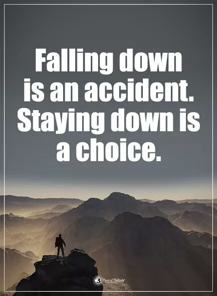 Falling down is an accident. Staying down is a choice. #makeyourownlane #spdc #defstar5 #Mpgvip #IQRTG #SuccessTRAIN #startups #entrepreneur <br>http://pic.twitter.com/1KAVNk8Crt
