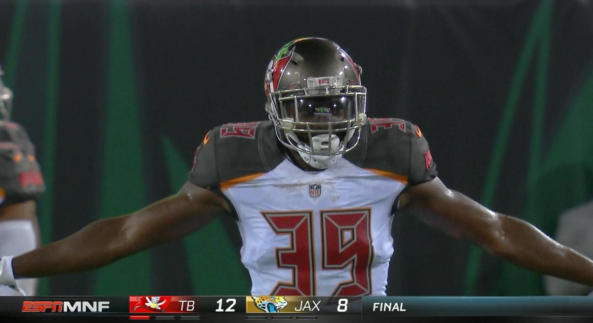 The Bucs knock down a Hail Mary attempt to hold on and win this Thursd...