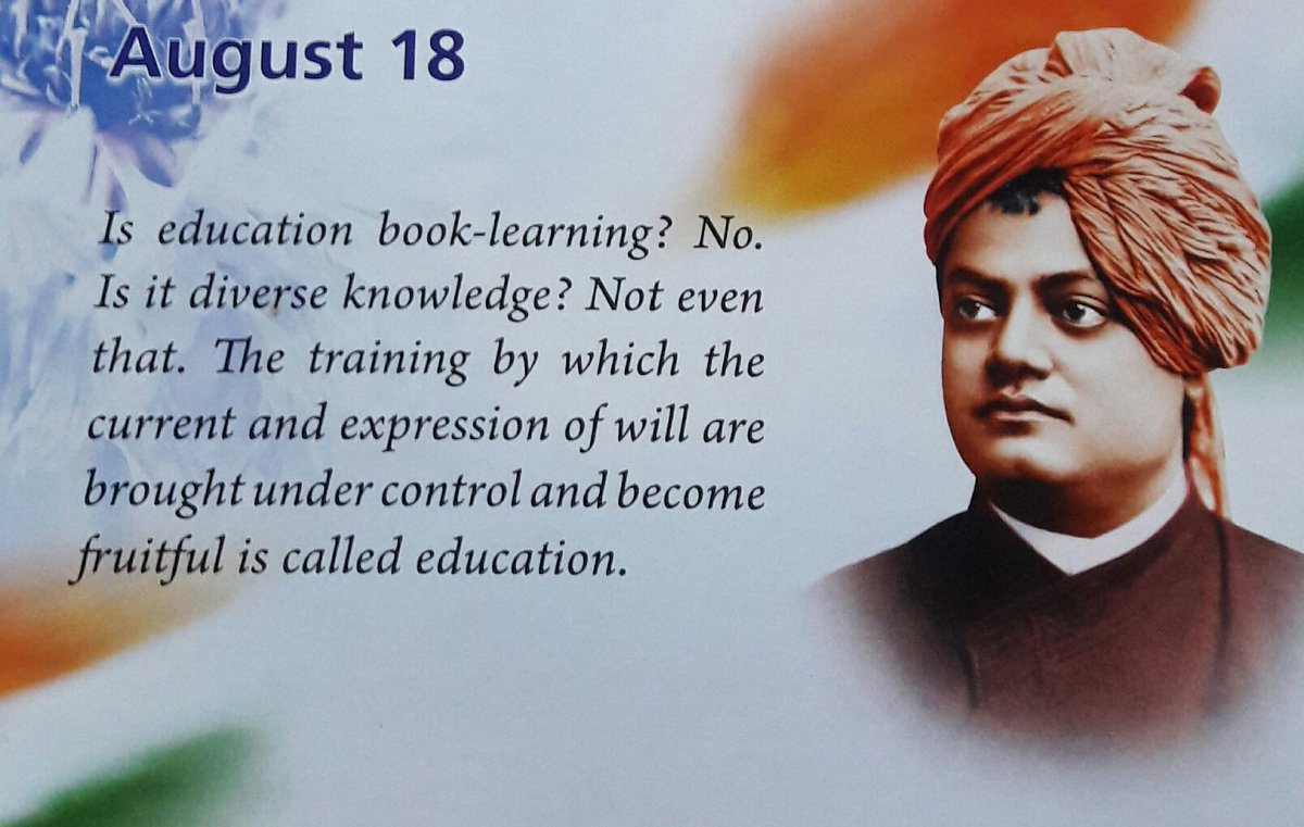 #training by which d #current &amp; #expression of #will r brought #under #control &amp; become #fruitful is called #education.  -Swami #Vivekananda<br>http://pic.twitter.com/BV4StxL3h7
