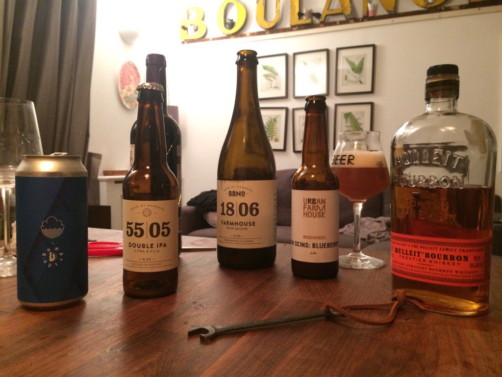 About last night. Bates beer after wine w bourbons just fine! #tastings #foolforyou #gooseberry #pear #blueberries<br>http://pic.twitter.com/aBpzrtnu4Z