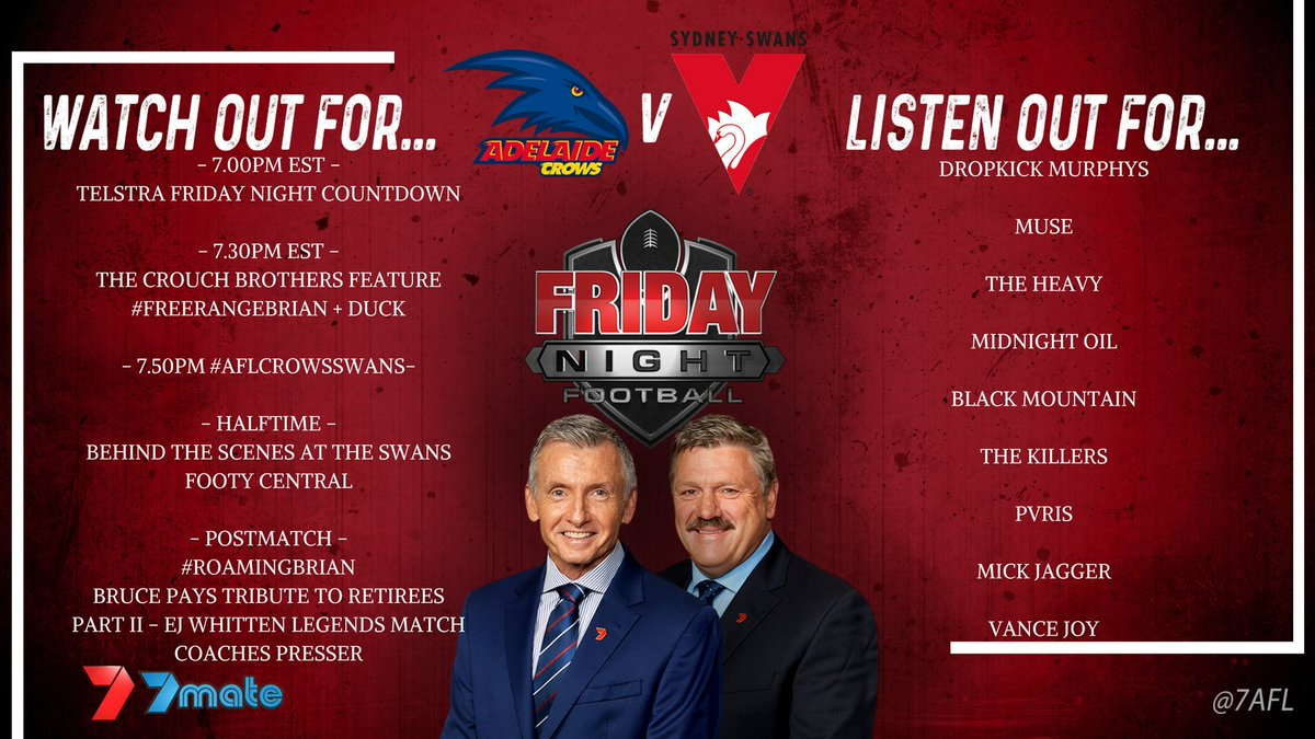 What to 👀 & 👂 for during tonight's finals entree #AFLCrowsSwans wh...