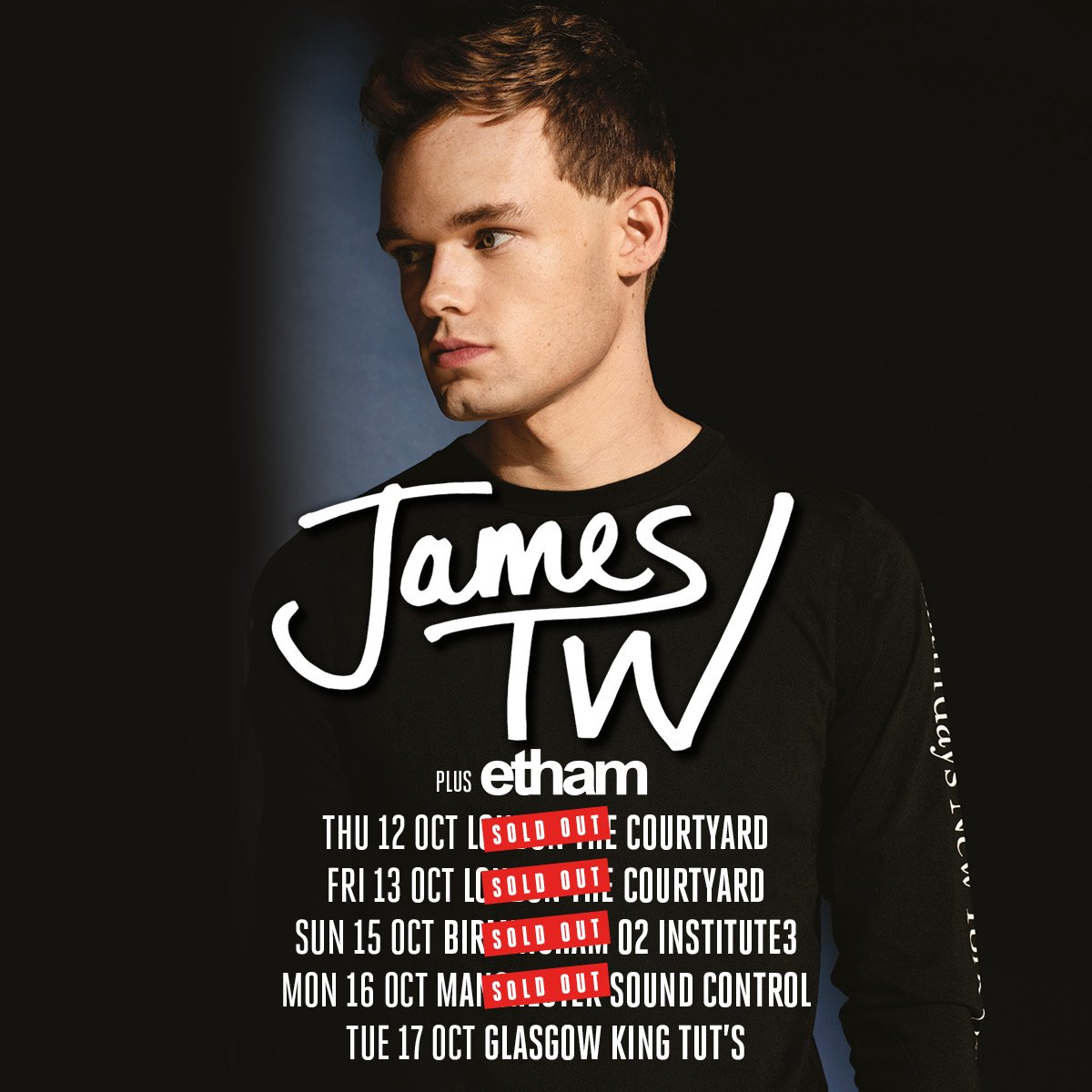 NEWS// 🚨 @ethammusic will be supporting @JamesTWmusic on his tour this Oct! https://t.co/dXSih4TrGi