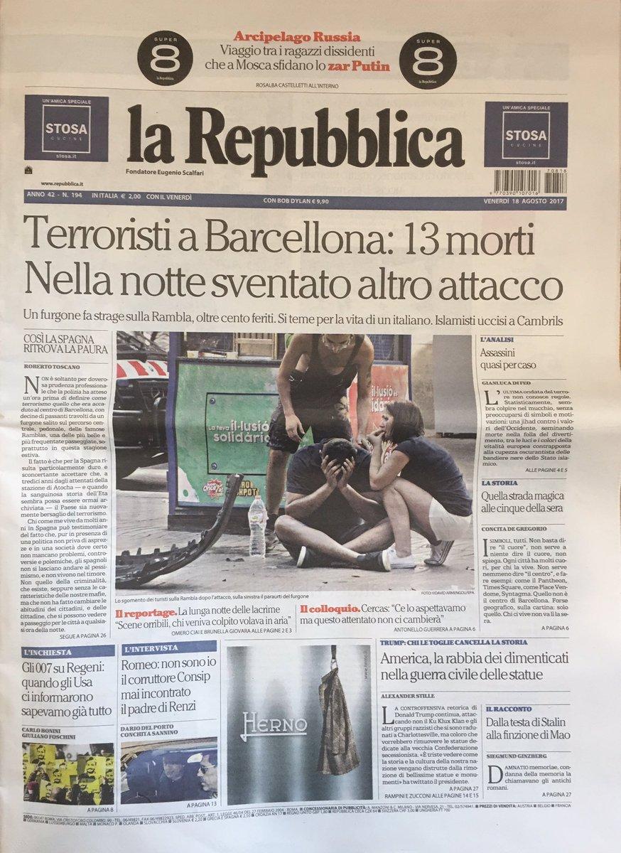 Buongiorno con la #primapagina delle #badnews da #Barcellona perché  #...