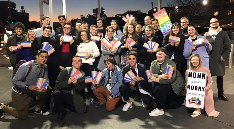 Rainbow Labor NSW handing out enrol to v...
