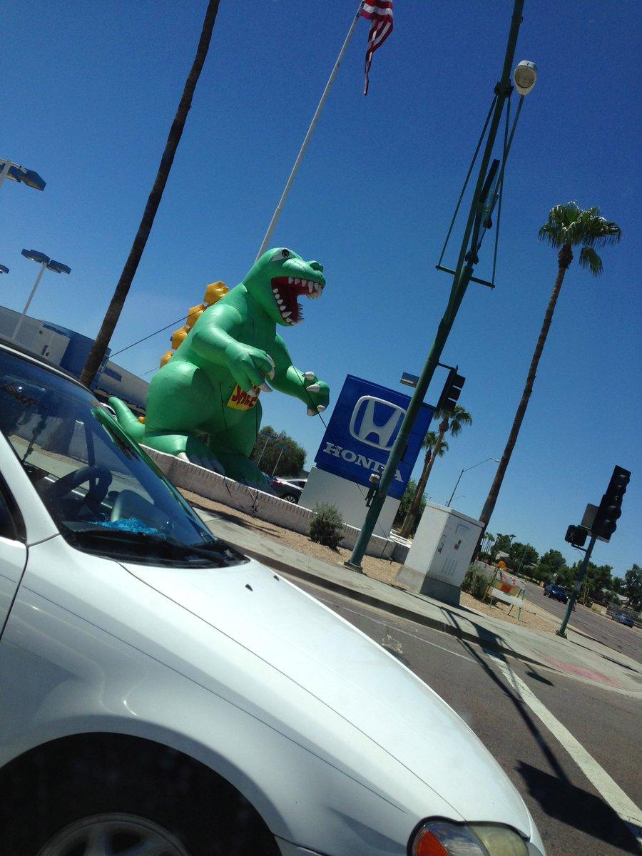 Day 227 - August 17th Look Out! It&#39;s Godzilla!  #godzilla #cardealership #roar<br>http://pic.twitter.com/YVhJVLpSBR