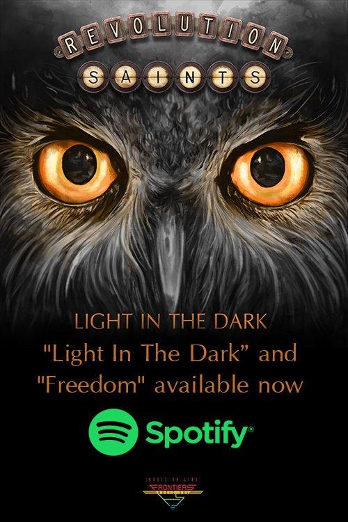 Head to @Spotify to hear #Freedom from new #RevolutionSaints album #LightInTheDark  http:// radi.al/LightInTheDark Spotify &nbsp; …  @DeenTheDrummer @Douglas_Aldrich<br>http://pic.twitter.com/4QVoybWnii