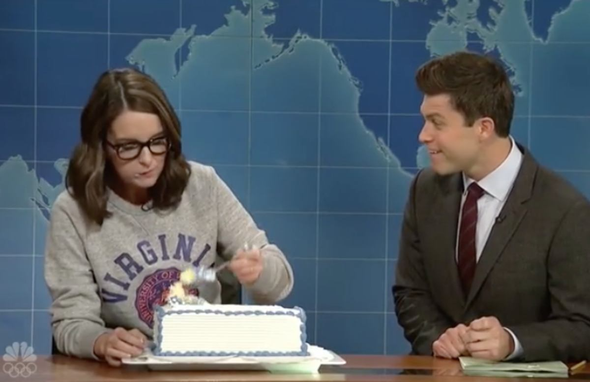 Tina Fey made a triumphant return to 'Weekend Update,' and started a m...