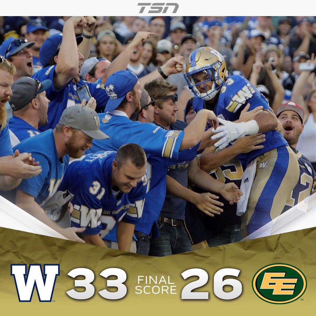 Andrew Harris and the @Wpg_BlueBombers hand the @EdmontonEsks their fi...