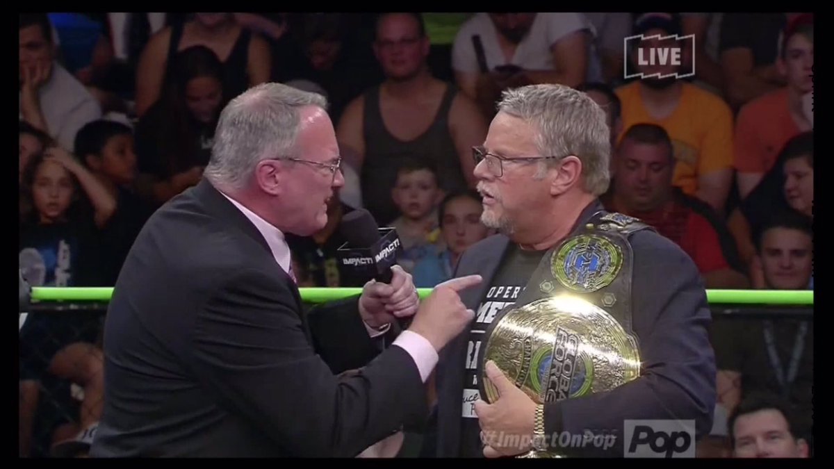 Well, that was a fun little deal. @bruceprichard @TheJimCornette @GFWWrestling #ImpactWrestling but even more fun when @Konnan5150 showed up<br>http://pic.twitter.com/7r08oUbilj