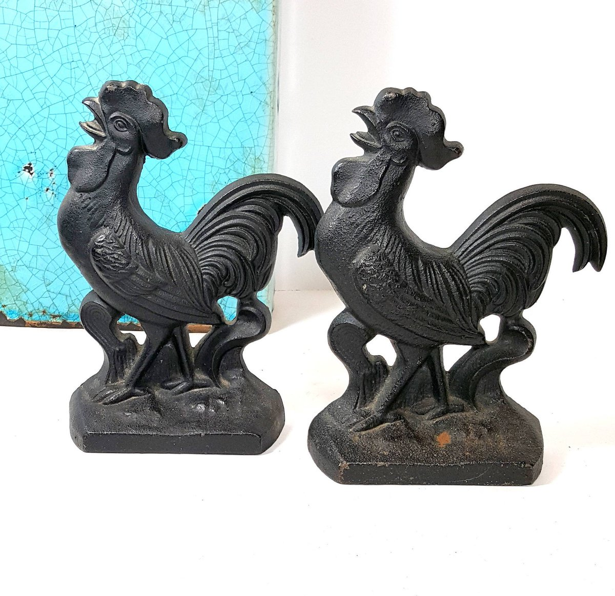 2 VINTAGE CAST IRON Chicken Bookends Mid Century Rooster Bookends Farmhou…  http:// etsy.me/2wls9tl  &nbsp;   #Etsy #MidCentury <br>http://pic.twitter.com/keoqt4INxK