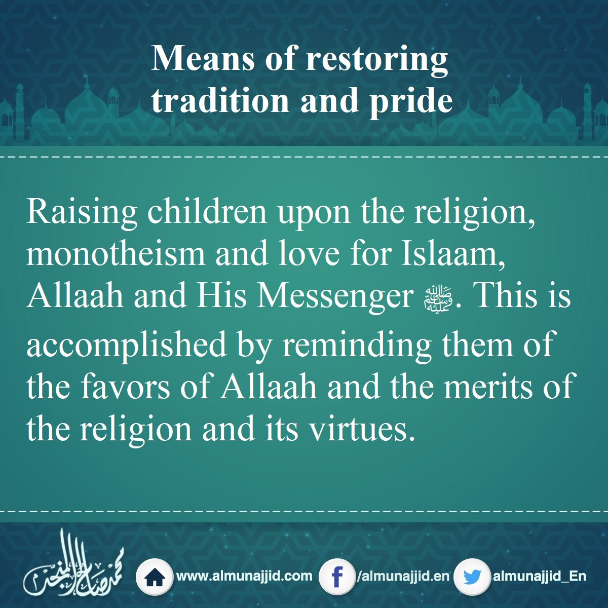 Means of restoring tradition and pride  #tradition #pride #children #religion #love #Islaam #Allah<br>http://pic.twitter.com/18Gd2VysbU
